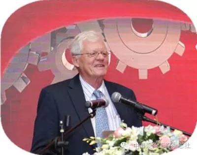 世界维修论坛主席、国际维修联合会前主席吉多·沃尔特先生作致辞讲话
